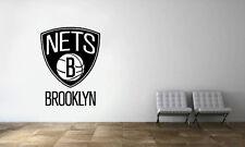 Brooklyn Nets Logo Wall Decal NBA Basketball Decor Sport Mural Vinyl Sticker