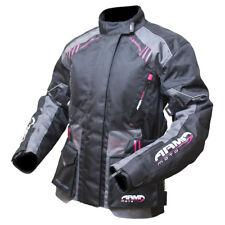ARMR Moto Femmes KISO 2 Veste moto gris imperméable hiver TOURING femmes