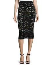 NWT Alice + Olivia Ani Laser-Cut Multicolor Pencil Skirt Size XS