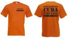 GUANTANAMO Bay Camp X-Ray CUBA US Army Camiseta Talla S-XXL Human Rights CASTRO