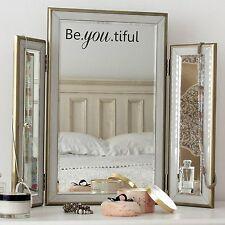 Be.you.tiful SPECCHIO ispiratrici adesivo camera da letto Carino wall art, decalcomania, love NUOVO