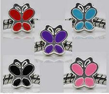 European Spacer Bead Perlen versilbert Schmetterling Butterfly