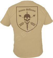 NOUS DEFIONS or WE DEFY Special Forces SS T shirt TAN Spec ops Pro Gun S - 3X