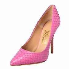 Salvatore Ferragamo Susi 100 Women's Python Skin Pink High Heels Pumps Shoes