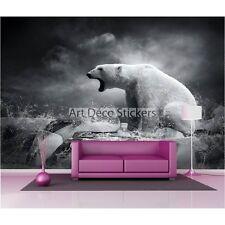 Stickers muraux géant déco : Ours blanc 1628