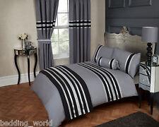 Sfarzo Nero Grigio Argento Multifunzione 200 Thread Count COTONE Lussuosa biancheria da letto di facciata continua