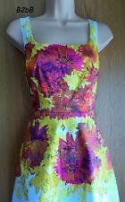 NewWT Karen Millen white painted floral cotton skater summer dress UK 10 12 14