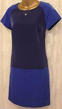Karen Millen Sporty Colour Block Contrast Short Sleeve Blue Tunic Dress 6 8 10