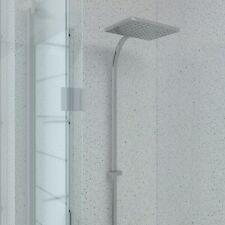 Aquabord White Sparkle 3 Wall Shower Kit 1m Wide PVC T&G Waterproof Panels IPSL