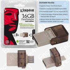Clé USB 16 Gb OTG Datatraveler MicroDuo Kingston vendue aussi en 8 32 64 Giga Go