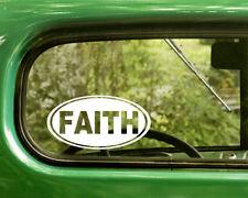 2 FAITH DECALs Religion Stickers For Car Window Truck Bumper RV