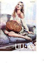 PUBLICITE PM  2012  LIU.JO haute couture sacs vetements modèle KATE MOSS