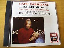 OFFENBACH GAITE PARISIENNE PHILARMONIA-KARAJAN  CD EMI