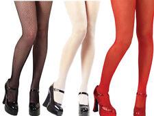 Fishnet Tights Ladies Red Black White Ladies Everyday Halloween Fancy Dress