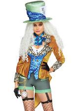Leg Avenue womens Mad hatter velvet coat costume
