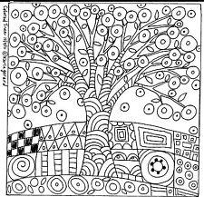 RUG HOOKING Craft PAPER PATTERN Colored Tree FOLK ART PRIMITIVE Karla Gerard