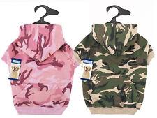 Dog Hoodie Camo Camouflage Hoodies Green Pink Pet Coat Sweatshirt