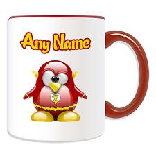 Personalised Gift Flash Penguin Mug Money Box Cup Hero Movie Film Barry Allen