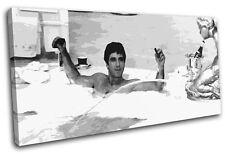 Scarface Al Pacino Movie Greats SINGLE CANVAS WALL ART Picture Print VA