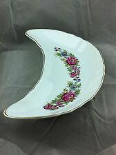 Vintage made in Japan bone dish pink floral design porcelain china side dish