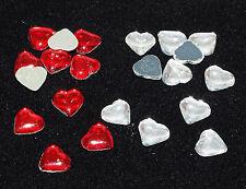 100 Hotfix -  Strass Herzen / Glas Strass Strasssteine Herz 7x7mm zum Bügeln