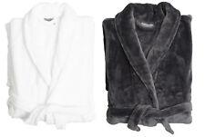 Sheraton Luxury Robe Dressing Gown Charcoal Fleece Adults