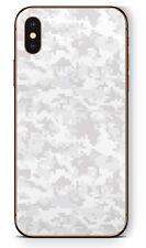 Apple iPhone Schutzfolie Skin Design Aufkleber X XS XR XS MAX Digital White Camo