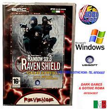 RAINBOW SIX 3 RAVEN SHIELD GOLD ED PC DVD WIN NUOVO ITA
