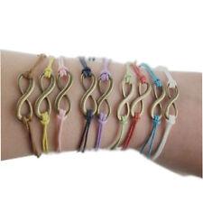 Infinity Love Eternal Bronze Charm Peace Friendship Karma Wish Bracelet Gift