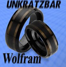 2 WOLFRAM TUNGSTEN TRAURINGE & GRAVUR GRATIS RINGE , komplett Schwarz ,  JW13