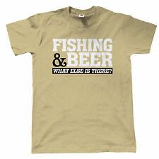 Fishing & Beer Mens Funny T Shirt - Carp Fly Sea - Gift for Dad Christmas