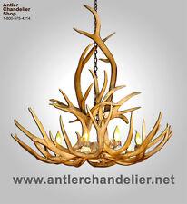 Real Antler Mule Deer & Elk Chandelier, 8 Lights, Mdelk, Acs Rustic Lamps