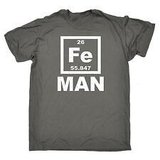 Iron Man Fe T-Shirt ciencia química humor Nerd Geek Broma Regalo Padres Día