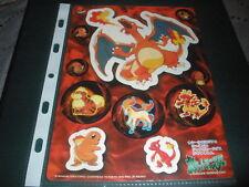 POKEMON JUMBO 1998 BANDAI STICKER CARD CHARIZARD RARE