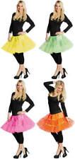 Neon Petticoat kurz Tüllrock Tutu Unterrock Karneval Fasching Kostüm
