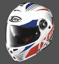 X-Lite X-1004 Nordhelle Metal white/Blu/Red Modular/Flip up Motorcycle Helmet