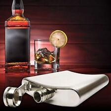 6 8 10 18 oz Hip Flask Stainless Steel/ Gold/ Leather Pocket Drink Whisky Flasks