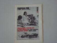 advertising Pubblicità 1970 VW PORSCHE 914  POLITOYS