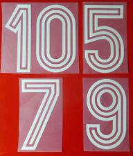 FLOCK numero NUMBER Maglia Shirt Polonia Poland Polska 1974 BIANCO WHITE