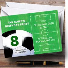Campo di calcio palla calcio personalizzata compleanno bambini party invitations