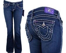 True Religion Jeans brand Becky Super T pastel purple bartacks memphis WJC564BA5