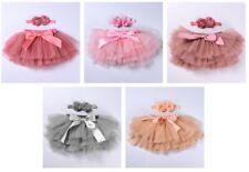 Childrens Baby Toddler Girls Silver Pink Fluffy Tutu Skirt FREE SHIPPING /// ZG8