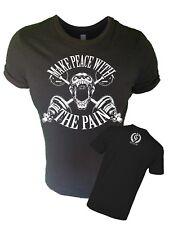Iron Gods Make Peace T-Shirt Workout Muscle Weight Training Bodybuilding Gym