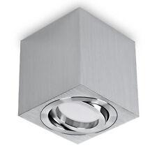 LED Aufbauleuchte Deckenaufbaustrahler Deckenleuchte Aluminium Eckig GU10-230V