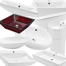 [neu.haus]® Waschbecken Waschschale Keramik Waschtisch Aufsatzbecken Wand Oval