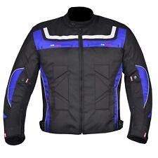 Hombre Impermeable de Motocicleta Cordura Chaqueta Textíl Moto Ce Blindado Azul