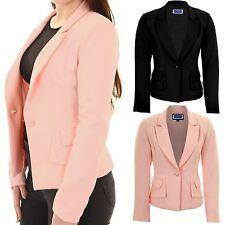Haut femme col V bas doublé Smart élégant rembourré épaules bureau blazer jacket