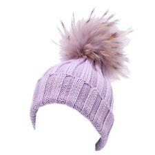 4840Y cuffia bimba girl REGINA BY ANGELA MAFFEI GOLD lilac wool hat a90a30ea0287