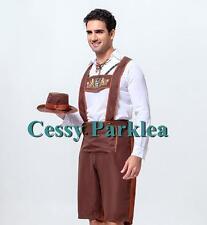 Mens Bavarian Guy German Lederhosen Beer Oktoberfest Costume M-XL