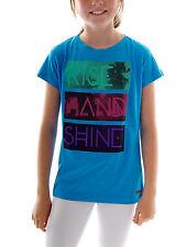 Protest T- Shirt Kurzarmshirt Shirt Maple blau Print Rundhals